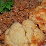 Buchetele de conopida cu carne tocata la cuptor