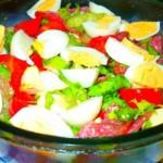 Salata de pepene galben si brie